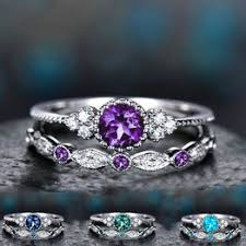 <b>2Pcs</b>/<b>Set</b> 2019 <b>Luxury</b> Green Blue Stone Crystal Rings For <b>Women</b> ...