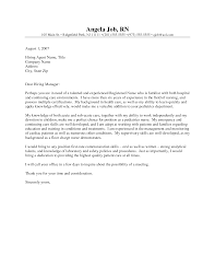 sample nursing cover letter experience resumes sample nursing cover letter