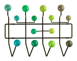 vitra hang it all white balls blue tones by charles  ray eames