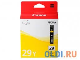 <b>Картридж Canon PGI-29Y</b> желтый (yellow) 290 стр. для Canon ...