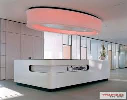 barrisol light over information desk barrisol lighting
