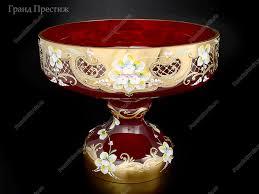 <b>Фруктовница</b> из богемского стекла 30 см в Москве | купить по ...