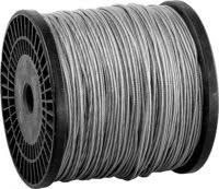 «<b>Трос стальной</b>, <b>DIN</b> 3055, оцинкованная сталь в оплетке ПВХ, d ...
