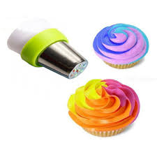 Nozzles Tips Cream Pastry Bag Tricolor Converter Cake Decorating ...