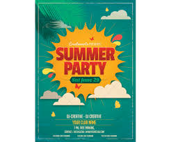 more great summer flyer designs design clubflyers magazine retro summer party flyers templates 127243