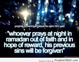 Prophet Muhammad ï·º on Praying at Night in Ramadan – Islamic ...