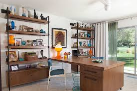 south canyon colorful modern mix 1950s home office idea in los angeles with a built in amazing rustic home office