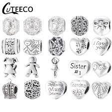 <b>CUTEECO Silver Plated</b> Cartoon Enamel Mickey Minnie Charm ...