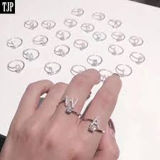 925 Sterling Silver Rings for Women Jewelry 2018 Initial Letter Ring ...
