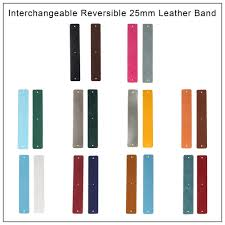 Legenstar 25mm Pu Leather Reversible <b>Stainless</b> Steel Bracelet ...