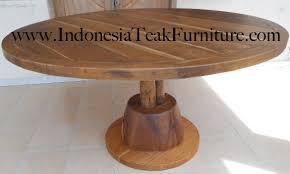 teak circular dining table