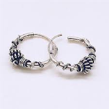 <b>BOAKO</b> European Vintage Silver Color Endless <b>Earrings</b> Circle ...
