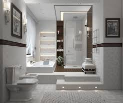 contemporary bathroom in white 700x582 luxury bathrooms with spas touch contemporary bathroom blog spa bathroom
