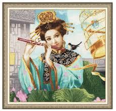 Золотое Руно <b>Набор для вышивания Волшебная</b> флейта 38,4 х ...
