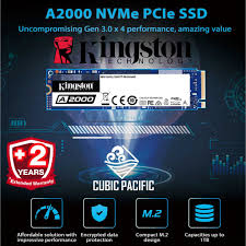 <b>Kingston A1000</b> / A2000 <b>M</b>.<b>2</b> 2280 NVMe PCIe Gen 3 SSD 240GB ...