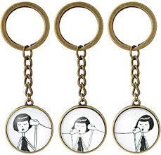 7Morning Vintage Call Phone Girl 3PCS/Set Keychain ... - Amazon.com