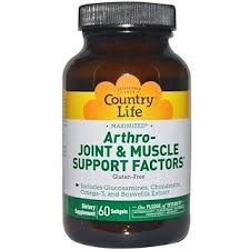 Country Life, <b>Arthro</b>-<b>Joint & Muscle</b> Support Factors, 60 Softgels in ...