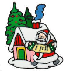 Наклейка декоративная на стекло <b>Winter Wings</b> Дед Мороз у ...