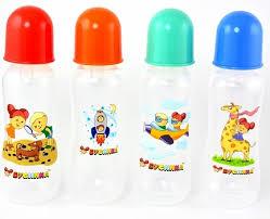 <b>Бутылочка Бусинка</b> 250 мл <b>пластик с</b> силиконовой соской, с талией