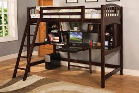 interesting black bunk beds with desk and ladder completing comfy boy bedroom with laminate flooring bunk bed office
