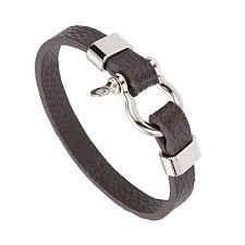 Men's <b>Women's</b> Leather Bracelet Classic <b>U Shape Punk</b> Leatherette ...