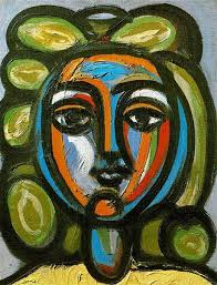 <b>Head</b> of a <b>woman</b> with <b>green</b> curls, 1946 - Pablo Picasso - WikiArt.org