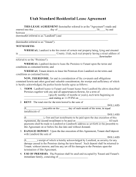 utah rental lease agreements residential commercial utah rental lease agreements residential commercial word pdf fillable forms