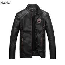 Bolubao Men <b>Leather</b> Suede Jacket Fashion <b>Autumn</b> Motorcycle <b>PU</b> ...