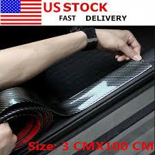 <b>Black Carbon</b> Fiber Decorative Protection Strip 3 cm*<b>1M</b> For ...