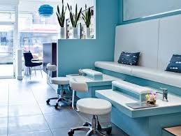 santurbano spa interior by beauparlant blue and white furniture