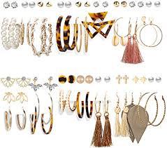 Amazon.com: 36 Pairs Fashion <b>Tassel Earrings</b> Set for <b>Women</b> Girls ...