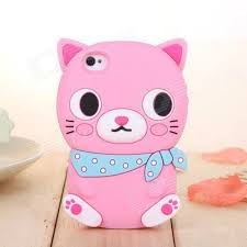 ZIQIAO Cute Cartoon Cat Shaped Protective Soft Silicone Back ...