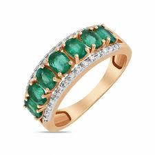 <b>Кольцо</b> c бриллиантами и <b>изумрудами</b>, артикул R01-34095-EM ...