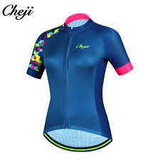 <b>CHEJI New</b> Arrival <b>Women Bicycle</b> Jersey Short Sleeves MTB Road ...