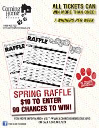 get your calendar raffle tickets win money and help homeless dogs 2013 spring calendar raffle flyer