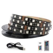5050 RGB LED Strip Waterproof <b>DC 5V USB</b> LED Light Strips ...