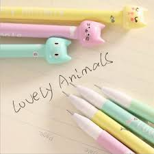 <b>4pcs</b>/<b>set</b> Kawaii Kitsch <b>Cat</b> Head Gel Pen Cartoon Korean Cute ...