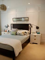 master bedroom feature wall: saveemail jennifer rambling renovators restful master bedroom