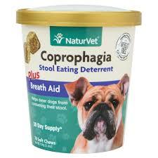 NaturVet <b>Coprophagia Stool Eating Deterrent</b> Dog Chews, 70 chews ...