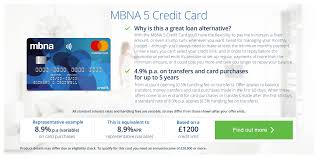 credit cards apply for a credit card online mbna the mbna 5 credit card