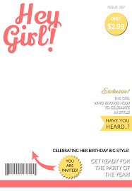 hey girl magazine cover printable birthday invitation hey girl magazine cover printable birthday invitation template greetings island