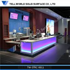 tell world led lighted colorful reception counter acrylic lighted reception desk reception counter design