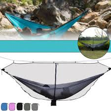 outdoor camping hammock mosquito net portable furniture ultralight hanging sleeping bed swing