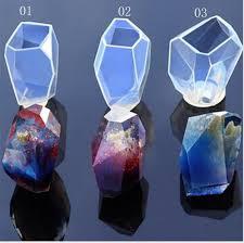 <b>Stone Silicon</b> Mold Cabochon Crystal shape <b>Transparent silicone</b> ...