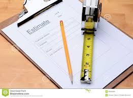 contractors estimate form royalty stock image image 38292686 contractors estimate form