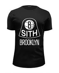 Футболка Wearcraft Premium Slim Fit Sith x <b>Brooklyn Nets</b> #519483 ...