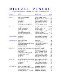 musical theatre resume sample kumpulan contoh surat menyurat sample musical theatre resume
