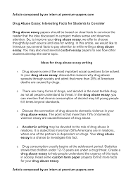 Essay on drug abuse   Academic essay Essay About Drug Abuse