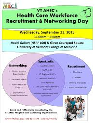vt ahec s health care workforce recruitment networking day uvm please participate in vt ahec s health care workforce recruitment networking