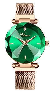 <b>Luxury Women Watches</b> Analog Quartz <b>Watch Magnetic</b> Clasp Mesh ...